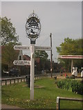 TQ4648 : Four Elms Village Sign by David Anstiss