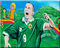 J5252 : Football mural, Killyleagh (2) by Albert Bridge