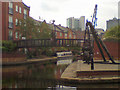 SJ8598 : Ashton Canal, Piccadilly Village by David Dixon