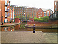 SJ8598 : Ashton Canal at Piccadilly Village by David Dixon
