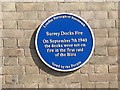 Photo of Surrey Docks Fire blue plaque