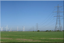 TQ9921 : Little Cheyne Court Wind Farm by Oast House Archive