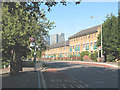 TQ3679 : Bus stop on Redriff Road, Rotherhithe by Stephen Craven