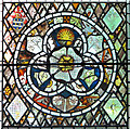 TM1273 : St Mary's church in Yaxley - stained glass : Week 21