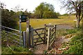 SU6993 : Kissing gate to the footpaths by Steve Daniels