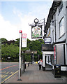 SJ8588 : Bus stop by the George & Dragon, High Street, Cheadle by Robin Stott