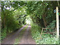 TM3372 : Footpath to Heveningham Long Lane &amp; Dunwich Lane by Adrian Cable
