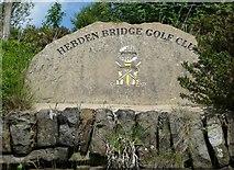 SE0027 : Golf Club sign, Mytholmroyd by Humphrey Bolton