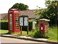 ST7010 : Holwell: postbox № DT9 44 and phone by Chris Downer