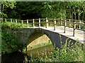 SE4006 : The destroyed (sorry restored) packhorse bridge over the River Dearne by Steve  Fareham