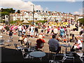 SZ1191 : Boscombe: steel band at the Pier Approach by Chris Downer