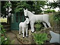 NT8937 : Horse & foal, The Cement Menagerie, Branxton by Andrew Curtis