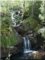 NH2200 : Waterfall on the Allt Ladaidh, Glengarry Forest by Claire Pegrum