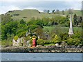 NS4373 : Dunglass Castle and the Henry Bell Monument by Lairich Rig