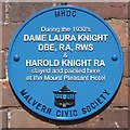 Photo of Laura Knight and Harold Knight blue plaque