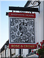 TR1743 : Rose and Crown sign by Oast House Archive