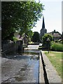 TQ5365 : Eynsford ford and church by E Gammie