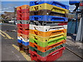 NT6779 : United Colours of Fishboxes at Victoria Harbour, Dunbar : Week 28