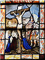 TG1001 : Wymondham Abbey - C19 stained glass (detail) by Evelyn Simak