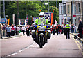 J5081 : Police motorcycle, Bangor by Rossographer