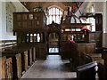 SP6604 : Seventeenth Century Pews at Rycote Chapel by John Vigar