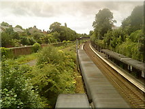 SP0685 : View of the railway south from Five Ways by Andrew Abbott