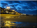 SZ5881 : Shanklin beach after sunset : Week 28