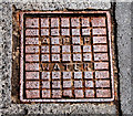J3474 : Manhole cover, Belfast by Albert Bridge