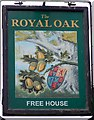 SU6742 : Sign for the Royal Oak, Lasham by Miss Steel