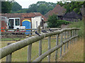 SP9506 : Swallows on a fence at Heath End by Tom Presland