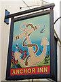 TQ8209 : The Anchor Inn sign by Oast House Archive
