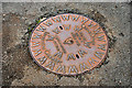 J2458 : Osma manhole cover, Hillsborough by Albert Bridge
