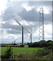 SX2186 : Wind Farm on Napp's Moor by Peter Kazmierczak
