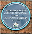 Photo of William Watson blue plaque