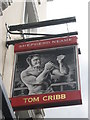 TQ2980 : Tom Cribb Pub Sign by David Anstiss