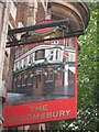 TQ3081 : The Bloomsbury Pub Sign by David Anstiss