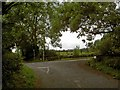 SK3297 : Junction of Berry Lane and Sheffield Road (A629) by Steve  Fareham