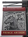 TQ3282 : Prince Arthur Pub Sign by David Anstiss