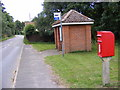 TM3060 : B1116 Framlingham Road & Framlingham Road Postbox by Adrian Cable