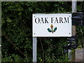 TM3162 : Oak Farm Sign by Adrian Cable