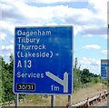 TQ5781 : 1 mile to junction 30/31, M25 by N Chadwick