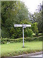 TM4262 : Roadsign on the B1119 Saxmundham Road by Adrian Cable