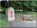 TF7335 : Victorian postbox and seat at Fring, Norfolk by Adrian S Pye