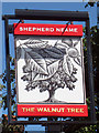TQ7652 : The Walnut Tree sign by Oast House Archive