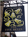 TQ5465 : The Five Bells sign by Oast House Archive