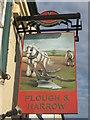 TR1854 : Plough and Harrow, Pub Sign, Bridge by David Anstiss