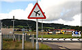 "J4973 : ""Low-flying aircraft"" sign, Newtownards by Albert Bridge"
