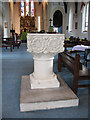 TQ2277 : Holy Trinity church, Barnes: font by Stephen Craven