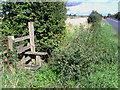 SP7609 : Stile at junction of road and footpath near Hewdon Farm by Roger Templeman
