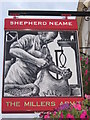 TR1458 : The Millers Arms, Pub Sign, Maidstone by David Anstiss
